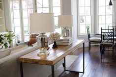 American Beach Classic - Mark J. Sofa Table Styling, Mark Williams, Winter House, Console Tables, Cozy House, Great Rooms, Vignettes, Statues, Retirement