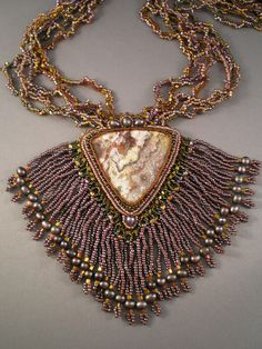 Crazy Lace Agate, seed beads, freshwater pearls