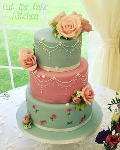 Kath Kidston Wedding Cake by Emma Lake - Cut The Cake Kitchen - http://cakesdecor.com/cakes/253197-kath-kidston-wedding-cake
