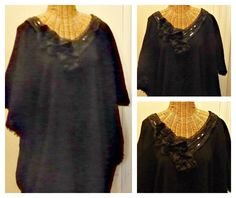 Black Sequin Caftan / Boho Dress / Sundress / Maxi / Long Kaftan / Swimsuit Cover Up / Womens Beach Spa One Size Cotton by SavoyFaireSpa on Etsy