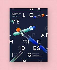 We Love Graphic Design in Poster