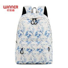 US  19.37 49% OFF Aliexpress.com   Buy WINNER Printing Backpack Flowers Canvas  Backpack Student School Bag Backpack For Teenage Girls Fashion Travel Bags  ... c7169a16af