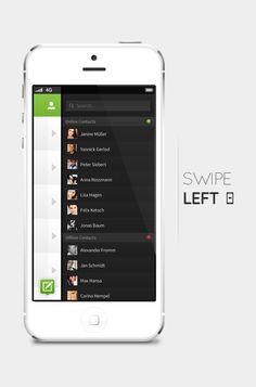 Concepto de diseño de interface para WhatsApp
