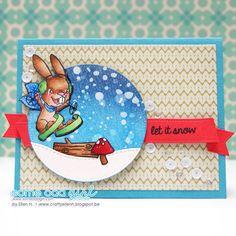 #EllenH #snowbunny #christmas #card #someoddgirl