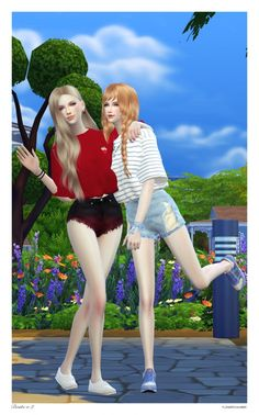 Bestie Poses Set V.2 at Flower Chamber via Sims 4 Updates Check more at http://sims4updates.net/poses/bestie-poses-set-v-2-at-flower-chamber/