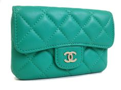 eLADY global offers free shipping worldwide.  Chanel Matrasse Coin case Lamb Skin Green(BF063210)
