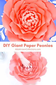 How to Make Large Paper Peonies: Templates and Tutorial Big Paper Flowers, Paper Peonies, Paper Flower Wall, Paper Flower Backdrop, Diy Flowers, How To Make Flowers Out Of Paper, Paper Flower Centerpieces, Paper Flowers Wedding, Giant Flowers
