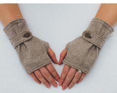 3 patrones de guantes sin dedos. PDF patrones por GinaReneeDesigns