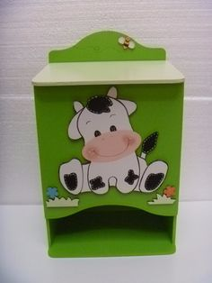 pañaleras de madera bebe fotos - Buscar con Google Baby Shawer, Decoupage Box, Kids Wardrobe, Cow Art, Wooden Toys, Toy Chest, Projects To Try, Cute, Crafts