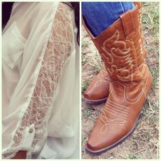 cowboy boots and lace