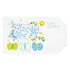 Peace Dove butterfly tags by OR Designs