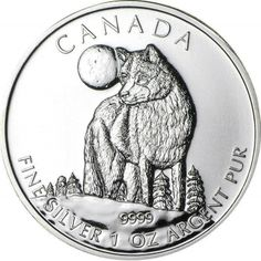 Buy 2011 1 oz Silver Wildlife Series - Wolf BU coins at texasbullion.com. If you have questions or would like to speak with a sales associate please contact us at (855) 927-5557 today!