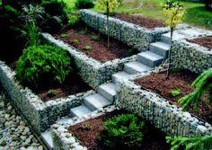 Jardin terrasse + gabion