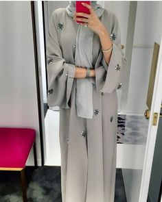 hijab abaya e're starting today with ABAYAS! Modern Abaya, Modern Hijab Fashion, Hijab Fashion Inspiration, Abaya Fashion, Muslim Fashion, Modest Fashion, Fashion Clothes, Fashion Outfits, Fashion Fashion
