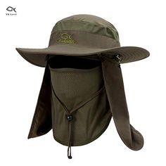 a2ca626f9ba Lover Outdoor UV Sun Protection Wide Brim Fishing Cap -Men and Women Face  Cover Summer Removable Mesh Neck Face Flap Gardener Hat for Outdoor Sports    ...