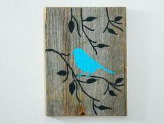 Barnwood reciclada, madera pintada a mano de la pared Art Rustic Art - Decor…