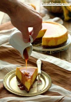 cheesecake zucca e caramello salato