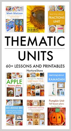 60+ thematic unit lesson plans and printables for project based learning - NurtureStore