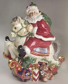 cookiejar.quenalbertini: Vintage Christmas Santa Cookie Jar