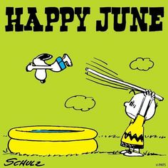 ❀ Happy June with Snoopy and Charlie Brown ❀