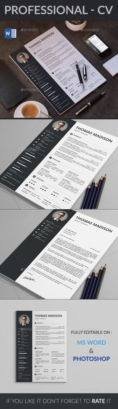 #CV - Resumes Stationery Download here: https://graphicriver.net/item/resume/18013803?ref=classicdesignp