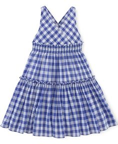 Ralph Lauren Little Girls' Cotton Gingham Dress Baby Girl Skirts, Baby Girl Party Dresses, Little Girl Dresses, Girls Dresses, Dress For Girl Child, African Dresses For Kids, Baby Dress Design, Baby Girl Dress Patterns, Kids Frocks Design