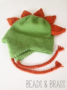 Dino Cap :: Free Pattern for Kid's Knit Hat  Perfect in Cascade Pacific from www.AlpacaDirect.com