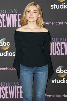 Actress Meg Donnelly attends ABC's 'American Housewife' FYC event at Lucky Strike Bowling Alley on April 7 2017 in Hollywood California Hollywood California, In Hollywood, Meg Donnelly, Zombie Disney, Sofia Carson, Teenager Outfits, Cool Hair Color, Her Music, Celebs