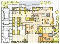 女性目線設計/収納/快適空間(アイデアと工夫で暮らしやすく)│構造・技術│クレバリーホームの家づくり│【公式】クレバリーホーム (cleverlyhome) 自由設計の住宅メーカー Craftsman Floor Plans, Small Floor Plans, Japanese House, Architecture Plan, My Dream Home, Planer, House Plans, Sweet Home, Layout