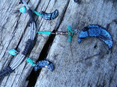 ∼•●☼☾☆●•∽ blue dream catcher with moons