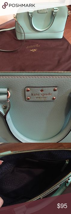 Kate spade tote Bought last year but haven't used much. Great condition. Small smudge by the Kate spade logo but looks like could easily come off. kate spade Bags Totes