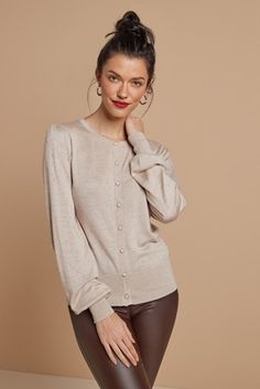 Womens Next Oatmeal Bobble Stitch Cardigan - Natural Bobble Stitch, Knitwear, Oatmeal, Clothes For Women, How To Wear, Stuff To Buy, Cardigans, Style, Products