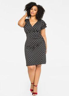 Double Ruffle Polka Dot Dress