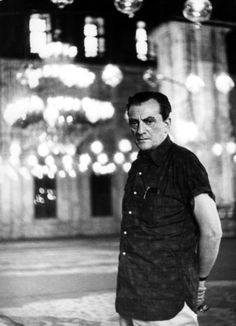 Luchino Visconti, director of 'Death in Venice', with Dirk Bogarde - a cinematic classic.