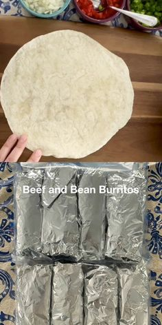 These make ahead and freeze beef and bean burritos are great to have on hand. They make a healthy and easy after school snack, lunch, or weeknight dinner. #freezermeals101 #makeahead #burritos #beef #beans #freezercooking #recipes