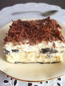 In the land of flavors: New Year's cheesecake with Oreo cookies Oreo Cookies, Tiramisu, Cheesecake, Food And Drink, Smoothie, Ethnic Recipes, Cream, Tailgate Desserts, Kuchen