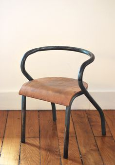 Children chair by Jacques Hitier, in style of Marcel Gascoin, 1950s / wwwl.alifebefore.com