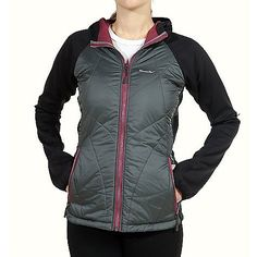Moosejaw Danielle Schaffer Hybrid Jacket - Women's by Moosejaw. $102.99. DECENT FEATURES of the Moosejaw Women's Danielle Schaffer Hybrid Jacket Sleeve and hood soft shell fabric breathes and offers mechanical moisture movement to help you stay dry from the inside out Water resistant softshell fabric Sleeve length designed for comfort when using the thumb holes Fleece lined handwarmer pockets Smooth-gliding YKK Vislon(R) zippers through-out Hidden inside pocket with...