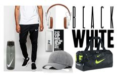 """""""GymTime"""" by fahira-1 ❤ liked on Polyvore featuring NIKE, Paco Rabanne, Vianel, Master & Dynamic, men's fashion and menswear"""