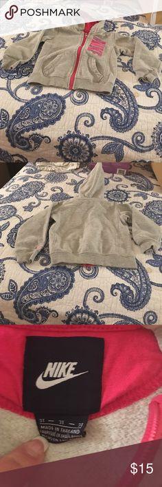 Little girls Nike sweatshirt Good condition made by Nike size 3 T Nike Jackets & Coats