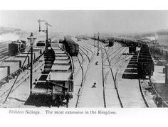 Shildon marshalling yard, once the largest in the world with over 30 miles of track. By 1850 there was over a whopping 1 million tons of coal passing through Shildon on it's way to the coast, you can imagine how busy and also noisy this town would have been.
