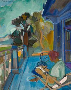 Woman on Terrace, 1926  Martin Bloch (1883–1954) was an Anglo-German Expressionist painter. His first one-man show was at the Paul Cassirer Gallery, Berlin, 1911. Worked in Paris 1912; visited Spain 1913 and again there 1914–18, stranded by the war, working with Pascin. Retrospective exhibition at the Paul Cassirer Gallery 1920; exhibited with the Expressionists in Berlin and elsewhere in Germany 1920–33.