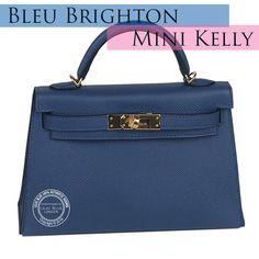 78edc05fddf7 Hermes Kelly 20cm Bleu Brighton Epsom GHW