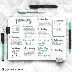 "2,113 Likes, 11 Comments - Bullet Journal features (@bujobeauties) on Instagram: ""Love this colour that @nini.journal used in their spread …"""