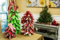 Make a Christmas Tree out of wrapping paper! DIY by @paigehemmis! For more great DIYs tune in to Home & Family weekdays at 10a/9c on Hallmark Channel!