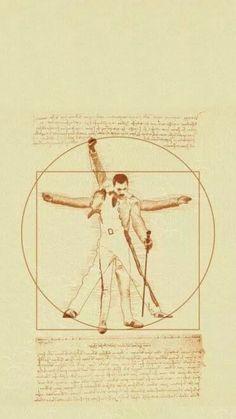 Vitruvian Man: Freddy Mercury by Zdjęcie Tatouage Freddie Mercury, Freddie Mercury Tattoo, Freddie Mercury Quotes, Queen Freddie Mercury, God Save The Queen, I Am A Queen, Freedy Mercury, Rock And Roll, Queen Drawing
