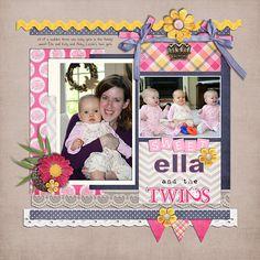 Ella and the twins - Scrapbook.com