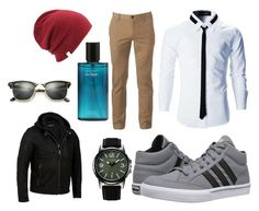 """""""Men fashion"""" by mhsp0610 on Polyvore featuring Urban Pipeline, adidas, Coal, Ray-Ban, men's fashion and menswear"""