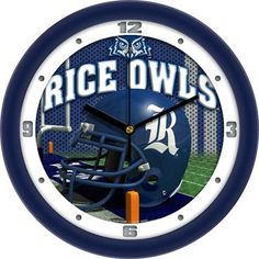 NCAA Rice University Owls Football Helmet Wall Clock