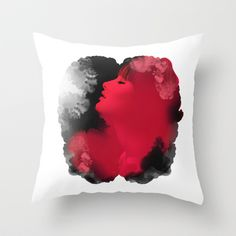 La dormeuse ( Psychedelic Ink Woman ) Throw Pillow by Voodoo - $20.00